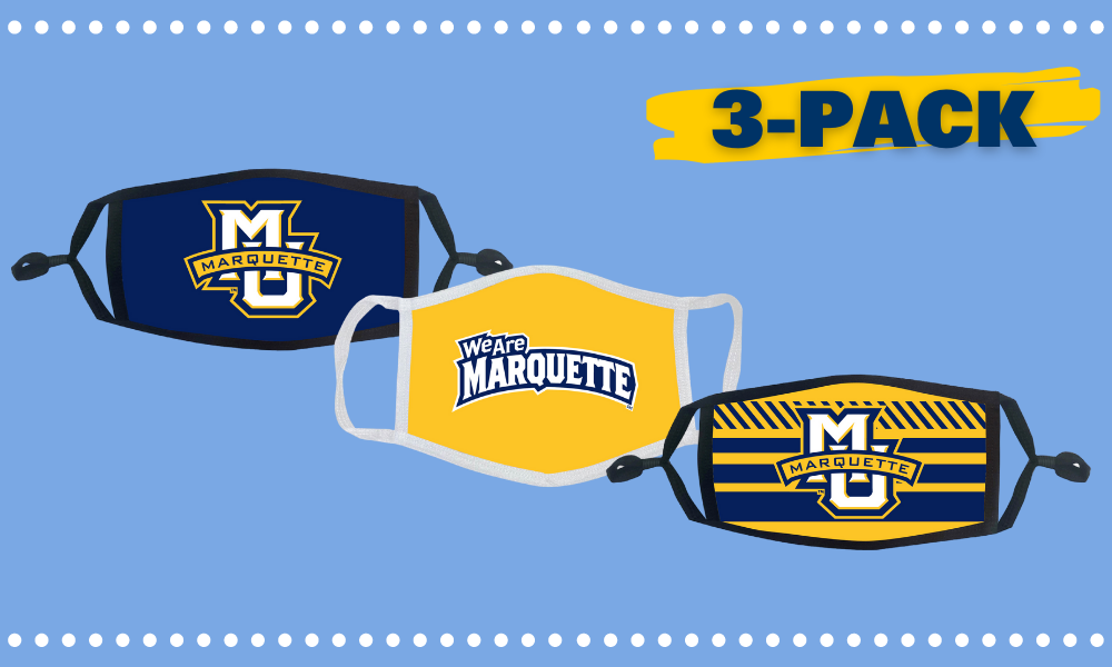 3 pack of reusable Marquette masks