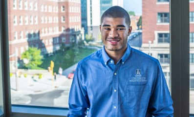 Scholarship recipient Emanuel