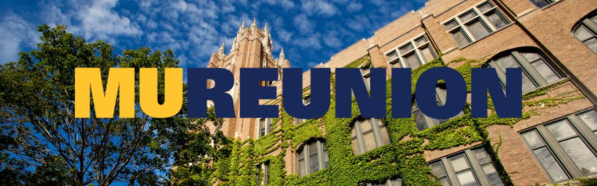 MU Reunion website banner